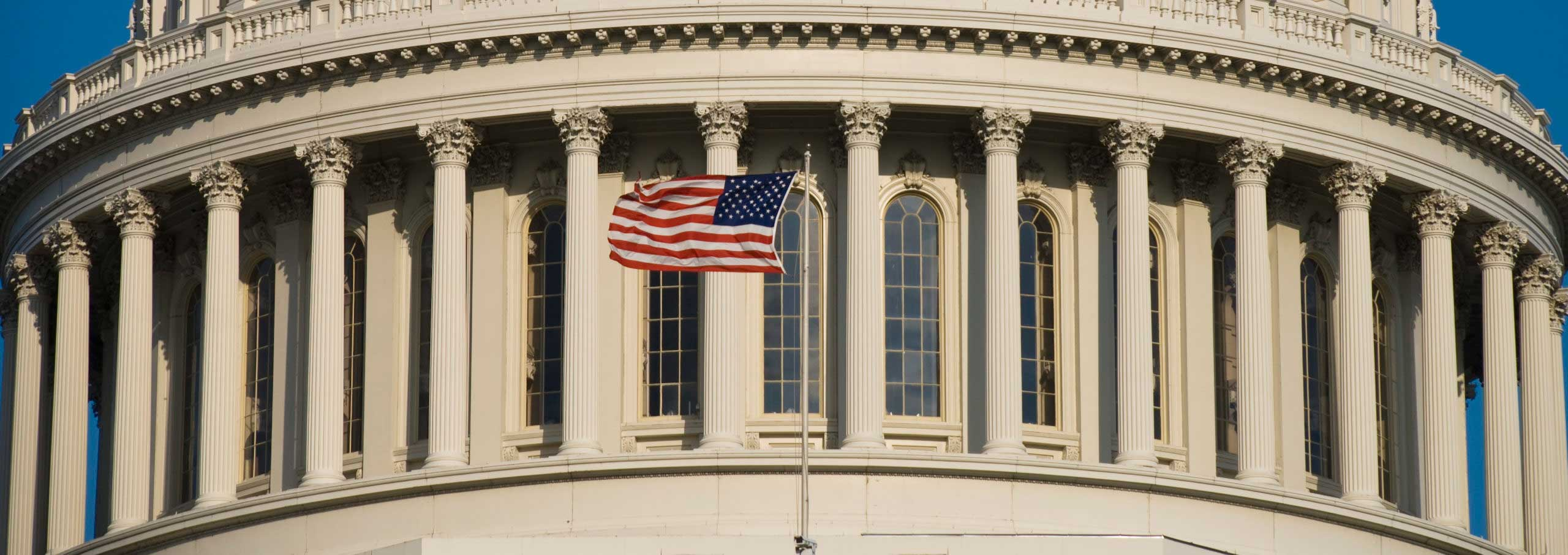 US Flag at Capitol - heroes act